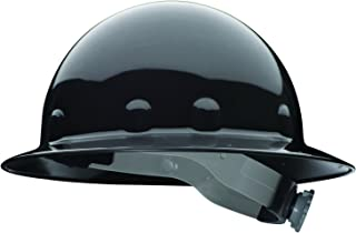 Fibre-Metal by Honeywell SuperEight Thermoplastic Full Brim Hard Hat with 8-Point Ratchet Suspension, Black