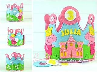 Corona Cumpleaños Peppa Pig Princesa 2