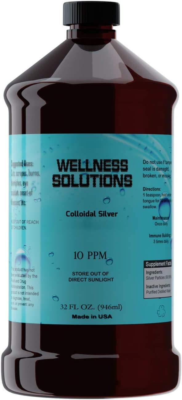Colloidal Inventory cleanup selling sale Silver - Wellness Solutions f 32 Gluten Popular shop is the lowest price challenge Vegan Free