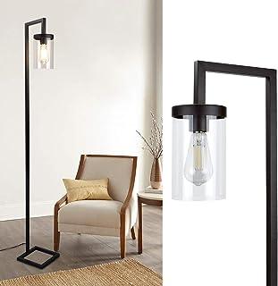 Depuley Lampadaire LED noir avec interrupteur à pied, lampe sur pied rétro minimaliste E27, lampe de lecture pour salon, 1...