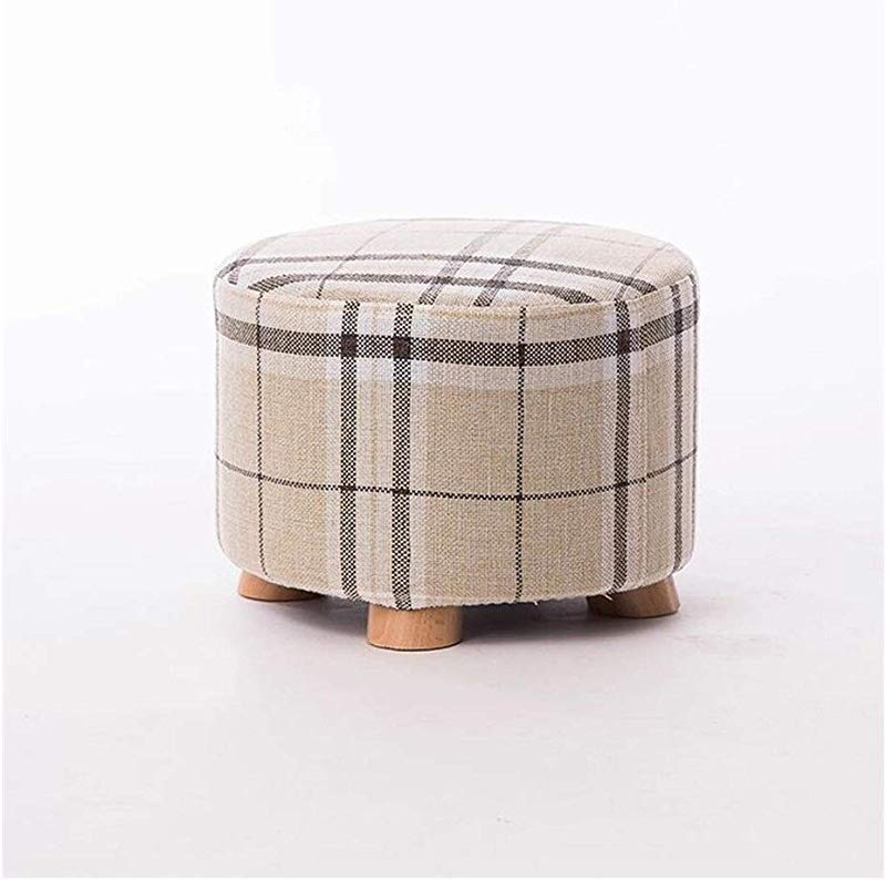 Carl Artbay Wooden Footstool Gray Stripes Creative Fashion Low Stool Change The Shoe Stool Round Stool Four Footstool Home