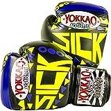 YOKKAO Sick Muay Thai - Guantes de Boxeo, Color Amarillo, 397 g