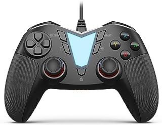 IFYOO ONE Pro 連射・振動機能搭載USB接続有線ゲームパッド PC コントローラー ゲーム用(Windows 10/8/7),Steam,Android スマホ/Androidタブレット/TV/TV Box,PS3に対応 - [黒]