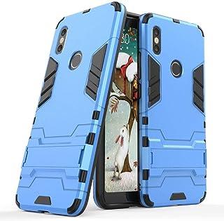 MaiJin Funda para Xiaomi Redmi S2 (5,99 Pulgadas) 2 en 1 Híbrida Rugged Armor Case Choque Absorción Protección Dual Layer Bumper Carcasa con Pata de Cabra (Azul)