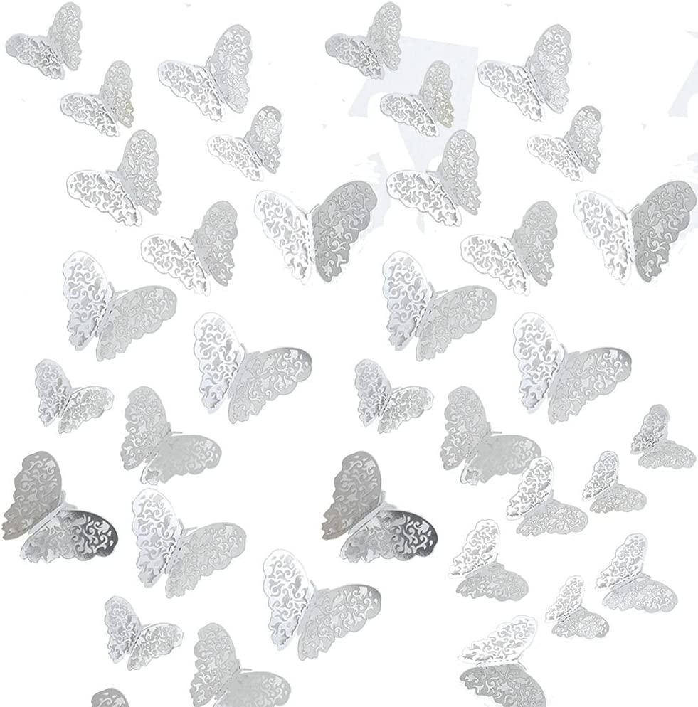 Butterfly Wall Limited time cheap sale Stickers 36Pcs Gold Art Super sale Decora 3D Removable Mural