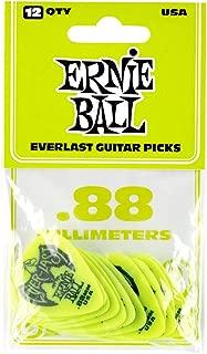 Ernie Ball .88mm Green Everlast Guitar Picks (P09191)