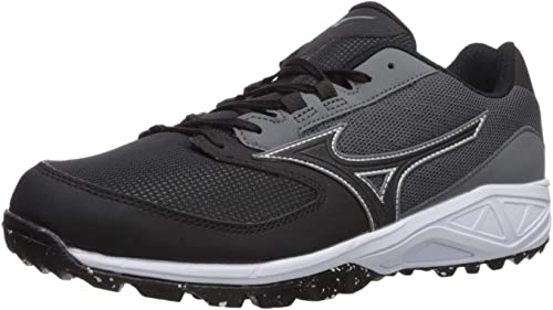 Mizuno Men's Dominant All Surface Low Turf chaussures Baseball, Charcoal noir, 7 D US