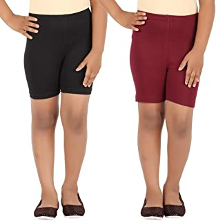 Pixie Women's 4 Way Stretchable Free Size Cycling/Yoga/Casual Shorts Combo (Pack of 2)