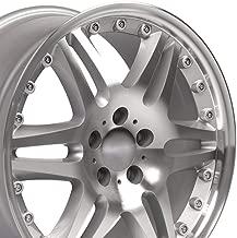 18x8.5 Wheel FitS Mercedes Benz C E S Class - SLK CLK CLS ET35 Silver Mach'd Rim