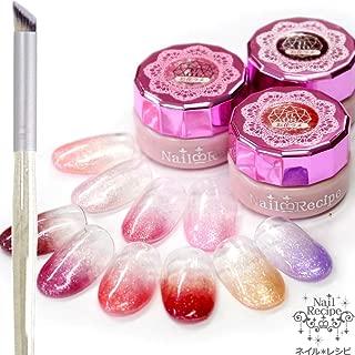 Nail Recipe(ネイルレシピ) カラージェル ジェルネイル ネイルカラー 10色 セット UV・LED ソークオフタイプ セルフネイル 発色抜群 (お花のラメ)