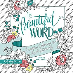 The beautiful word creative coloring and hand lettering coloring book