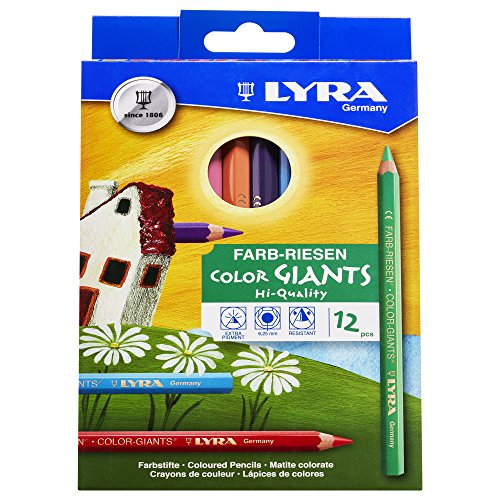 LYRA Farb-Riesen Kartonetui mit 12 Farbstiften, Sortiert