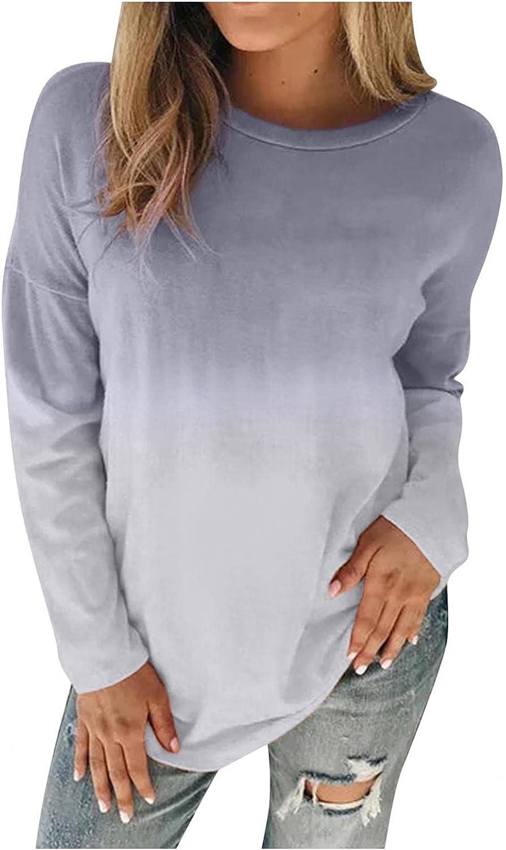 Hoodies Womens Pullover,Women's Tie Dye Printed Long Sleeve Womens Top Hoodies Casual Drawstring Sweatshirt