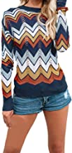 Rakkiss Sweater Women and Winter Stripe Casual Knitted Pullover