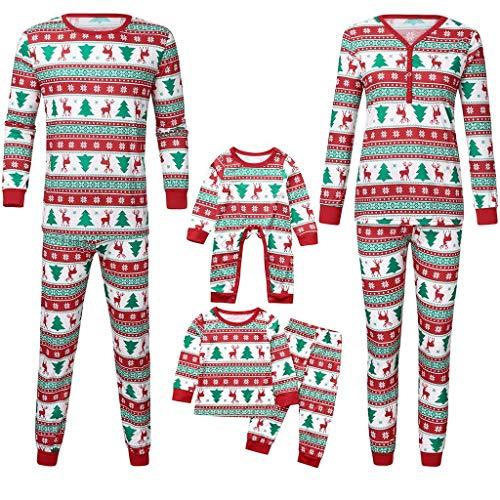 Weihnachtsoutfit Schlafanzug Familie Outfit Set Mutter/Vater/Kind Nachtwäsche