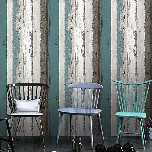 Decorativo Panel de madera patrón Contacto Papel autoadhesivo papel pintado Estante Liner Peel and Stick para cubrir armario de cocina encimera estantes manualidades 60 x 300 cm