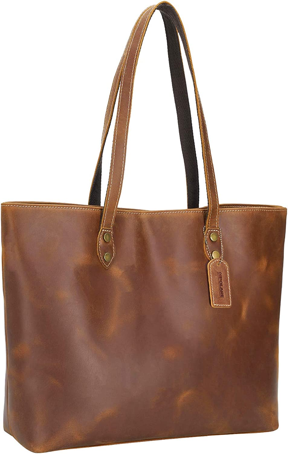 Polare Vintage Full Grain New Shipping Free Sales of SALE items from new works Leather Laptop W Tote for Shoulder Bag