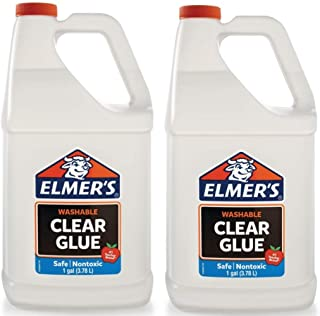 Elmers Liquid School Glue, Premium Clear, Washable, 2 Gallon