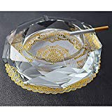 Posacenere per sigarette Posacenere in vetro Posacenere in cristallo trasparente Regalo di personalità creativa per interni ed esterni Posacenere per soggiorno Posacenere per fumatori (Dimensioni :