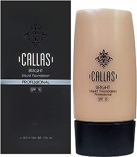 Callas Bright Liquid Foundation SPF 15 (02 Natural Beige) 1.76fl.oz/50ml