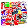 Waterproof Vinyl Stickers for Laptop Water Bottles Hydro flask Motorcycle Bicycle Skateboard Luggage Car Bumper Guitar Decals (100 Pcs Brand Logo Style Stickers) #3
