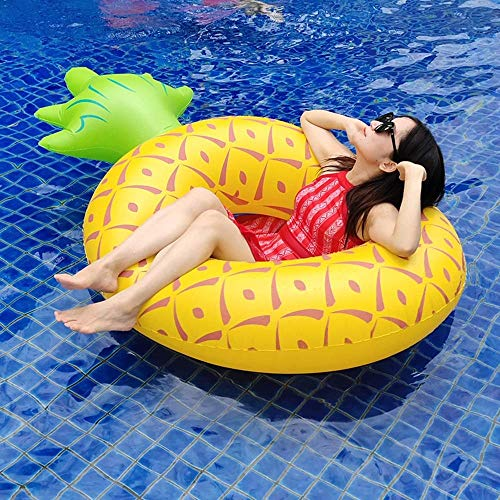 Gcxzb Schwimmreifen Luftbetten aufblasbare Ananas schwimmende Reihe Schwimmbett Schwimmenring Luftbett Ananas Schwimmenring Floating Row