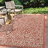 JONATHAN Y Malta Bohemian Medallion Textured Weave Indoor/Outdoor Red/Taupe 8 ft. x 10 ft. Area Rug, Coastal,EasyCleaning,HighTraffic,LivingRoom,Backyard, Non Shedding