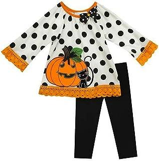 White Dot Black Knit Pumpkin Fall Legging Set