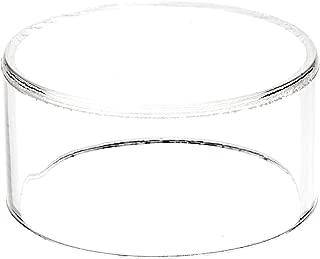Plymor Clear Acrylic Round Cylinder Display Riser, 1.5