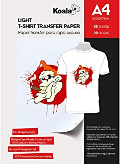 KOALA Papel de transferencia de tinta para camisetas de