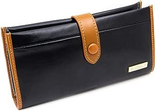 Womens Walllet RFID Blocking Genuine Leather Clutch Multi Card Organizer with Zipper Pocket