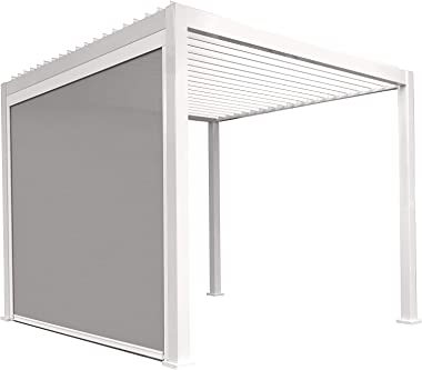 SORARA Mirador Adjustable Sun Shade Privacy Screen Panel with 3 Sided Aluminum Track for Outdoor, Patio, Awning, Pergola or G