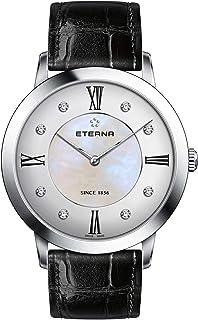 Eterna - Reloj para Mujer Analógico de Cuarzo con Brazalete de Piel de Vaca 2711.41.66.1394