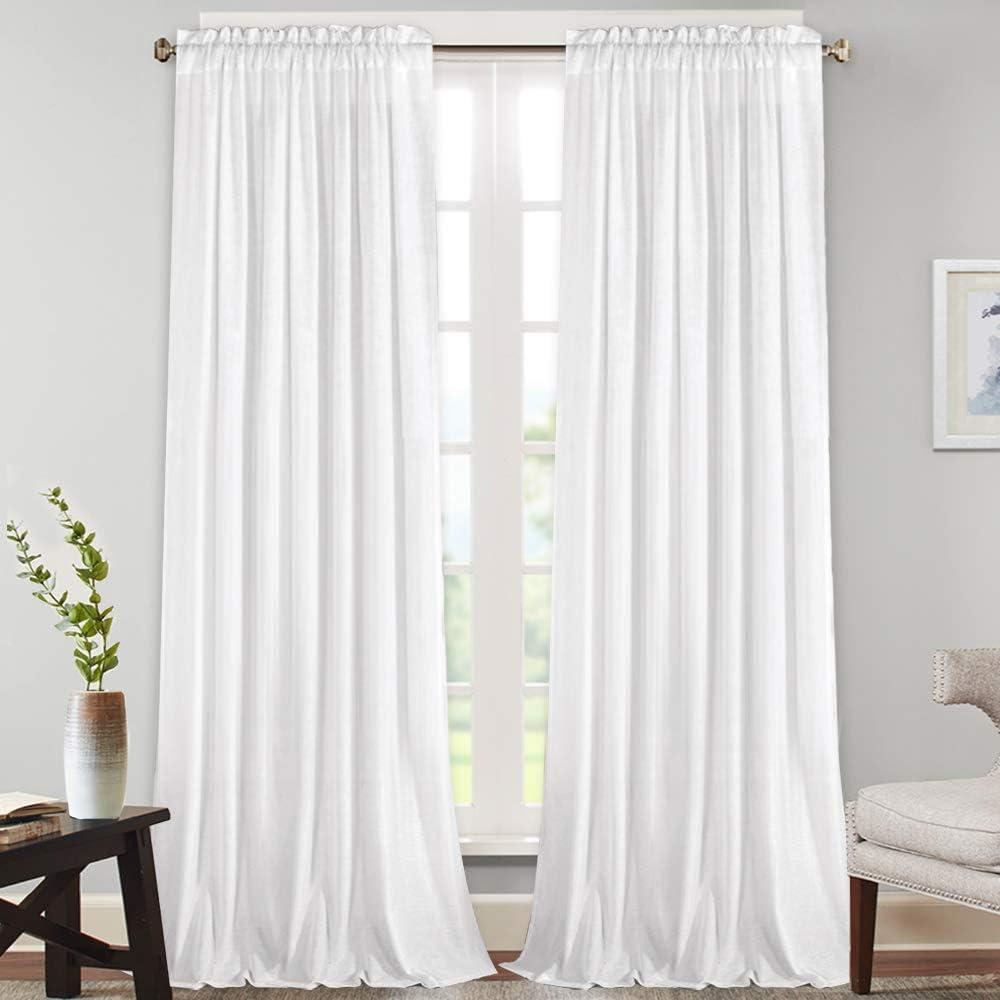 Natural Rich Linen Curtains Semi Over Manufacturer OFFicial shop item handling Sheer Room Bedroom Living D for