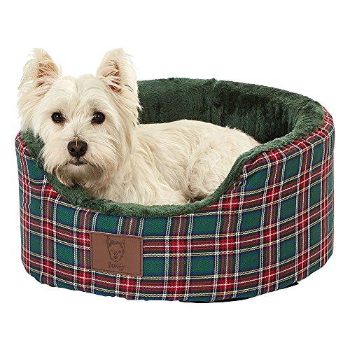 Bunty Heritage - Cama para Perro (Forro Polar, Lavable, tamao pequeo), Color Verde