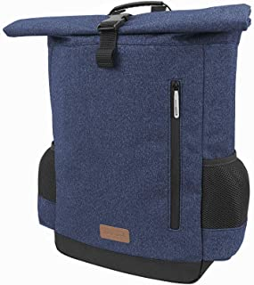 Ibera Bike Pannier Backpack - 2 in 1 Bike Bag, Large Capacity 15 L with Foldaway Shoulders Straps, Protective Inner Sleeve for 15.6