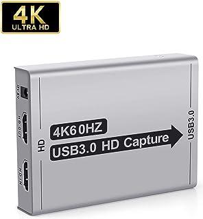 キャプチャーボード USB3.0 【2020最新版4k HDMI Loop-out】ビデオキャプチャー ゲームキャプチャー ボイススルー機能 ヘッドホン イヤホン接続可能 60FPS Switch/PS4/zoom/ゲーム/ビデオなど対応 Mac/Windos/Linux OS対応