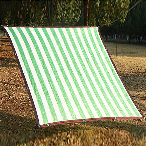 Malla Sombra Tela Toldo 90% Bloqueador Solar Red Solar, Raya Verde Paño de Sombra Blanco con Ojales, Permeable Al Agua y Al Aire Tela de Vela Malla, Cubierta de Planta de Tela de Jardín Al Aire Libre