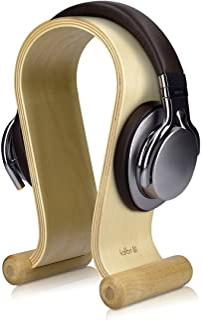 kalibri houten omega koptelefoon standaard - Universele standaard voor hoofdtelefoon - Koptelefoonstandaard - Berkenhout