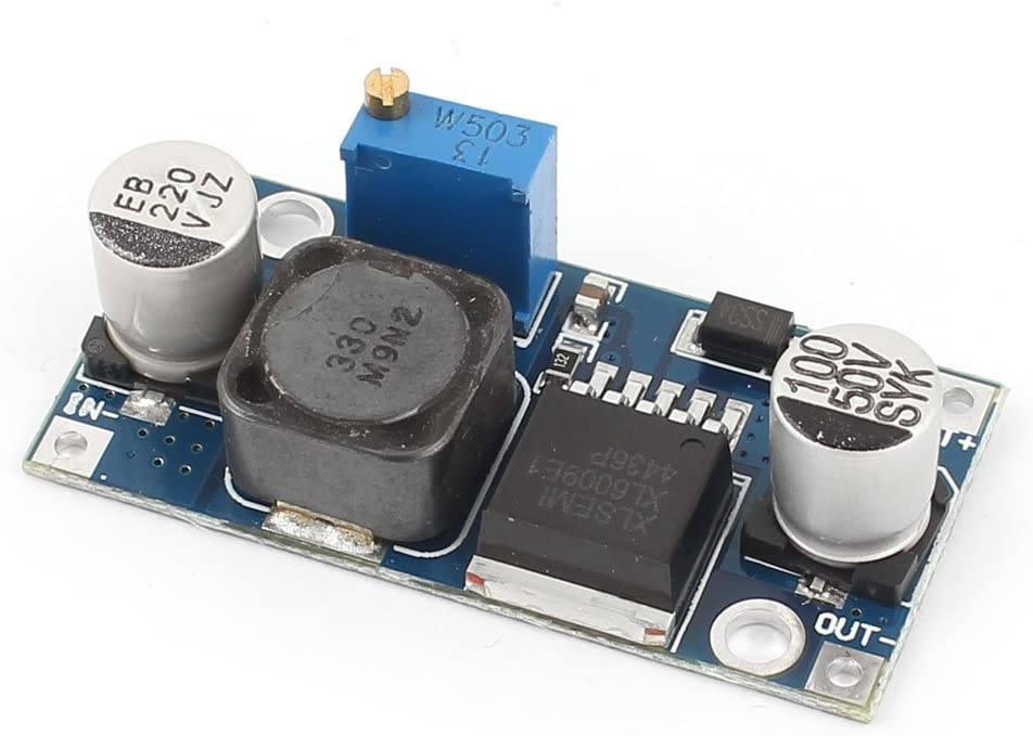 Aexit DC-DC Adjustable DIY component Step-up boost Power Converter Module XL6009 Replace LM2577