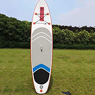 ZLBZBB Tabla de Surf Inflable, esquí acuático para Adultos, Pala Profesional, Tabla de Surf de Remo de pie, Pulpa Ajustable, A