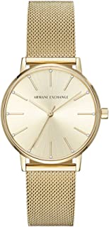 Armani Exchange Women's AX5536 Analog Quartz Gold Watch