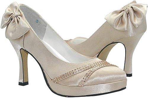 ZHRUI GYMZ646 plataforma para mujer zapatos de Novia de tacón de tacón de satén con Punta de tacón de Aguja Nupcial (Color   oro-9cm Heel, tamaño   9 UK)