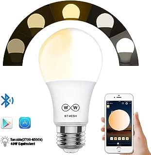 Magic Hue Bluetooth Mesh LED電球, 日の出と日没 100個電球を可同時に制御ワット数 E26口金 玄関灯 色温度電球色 暖かい白 色&冷かい白 色調節可能な調光相当の40W白熱電球相当は、とスマートフォンで動作します