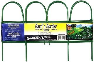 Origin Point Gard'n Border Round Folding Fence, Green, 10-Inch x 10-Feet