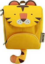 The Original Milo & Gabby 3D Animal Shaped Insulated Backpack with Tether, for Toddlers and Kids, Tom Tiger