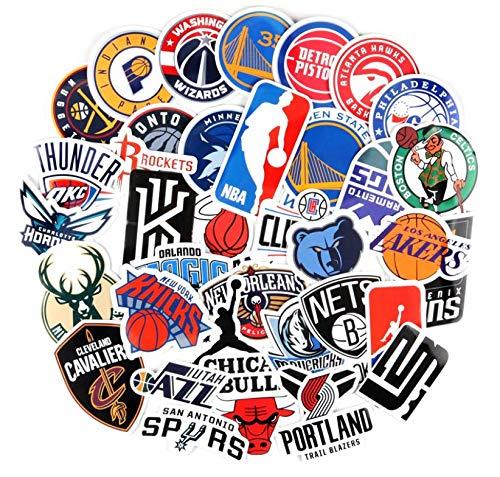 Nba Basketball Team Star Sticker Logo Logo Icon Ball Emblem Suitcase Laptop Waterproof Stickers 37 Pieces
