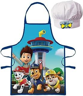 Tablier + Toque Paw Patrol La Pat Patrouille Cuisine Déguisement Enfant de 3 à 8 ans