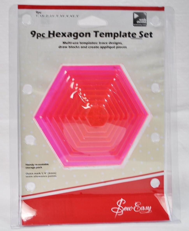 Sew Easy 9 Piece Hexagon Template Set ERGG07.PNK ckzwsdvszbzmo7