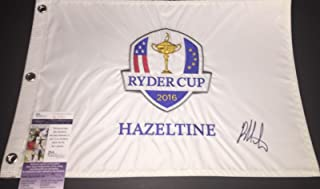 Bubba Watson Autographed Signed 2016 Ryder Cup Flag JSA COA